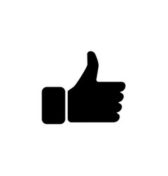 thumb up icon black on white vector image