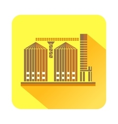 Tower plant icon flat style vector image