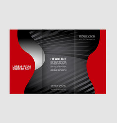 tri-fold brochure design template with abst vector image