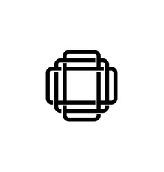 triple o monogram ooo letter hipster lettermark vector image