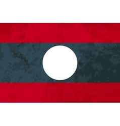 True proportions Laos flag with texture vector