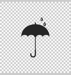 umbrella icon isolated on transparent background vector image
