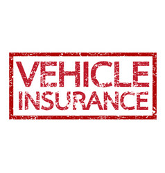 vehicle insurance text vehicle insurance word vector image