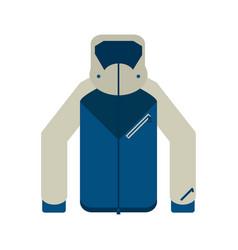 Winter jacket clothes vector