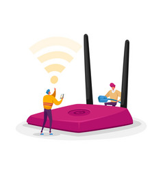 Wireless connection modern technology concept vector