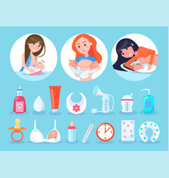 Women and items collection vector