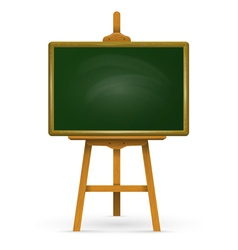 Wooden easel with school board vector