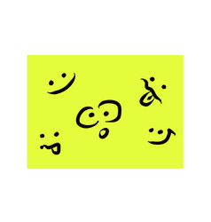 Yellow background and smiles color background vector