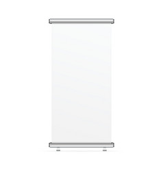 blank realistic roll up banner vector image