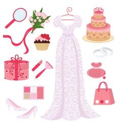 bridal shower set vector image