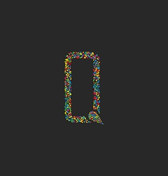 Letter Q of colorful circle design logo graphic vector image vector image