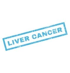 Liver cancer rubber stamp vector