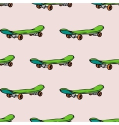 Seamless pattern with skate board vector image