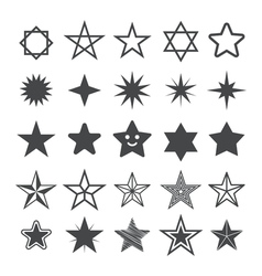 Star flat icon Sign Star vector image vector image