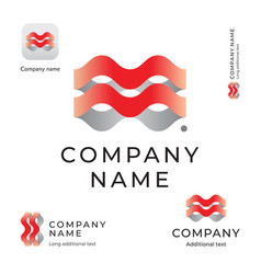 abstract wave logo modern identity beautiful vector image
