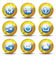 gold icons for ui game vector image vector image