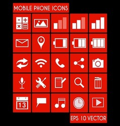Mobile Phone Icon Set vector image vector image