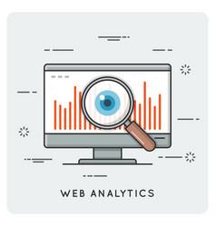 web analytics thin line concept vector image vector image