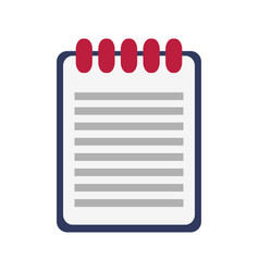 wired notebook icon image vector image vector image