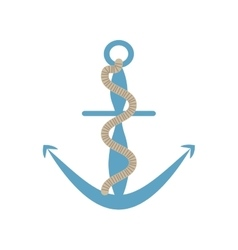 Anchor rope marine nautical sign vector