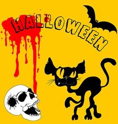 Black halloween vector