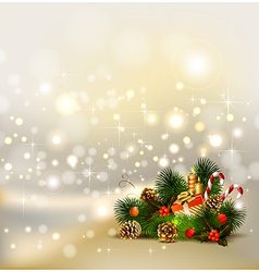 Christmas background with still life vector image