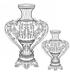 Exquisite fabulous imperial baroque vase decor vector