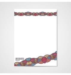 Graphic design letterhead with hand drawn ornament vector image