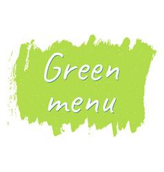 green menu logo or sign vector image vector image