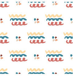 hand drawn seamless abstract pattern wavy vector image vector image