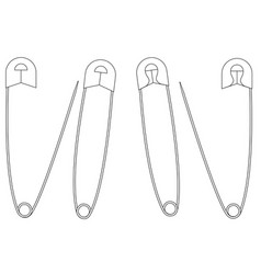 safety pin icon vector image