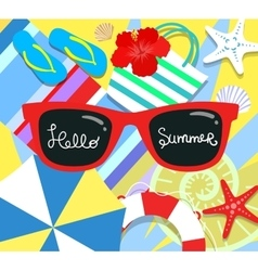 summer background with holiday elements vector image