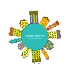 Urban planet vector image
