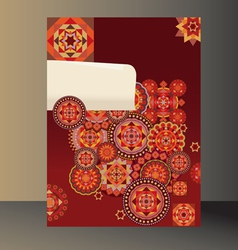 background red geometric vector image vector image