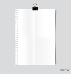 Collection of white papers ready for your message vector image vector image