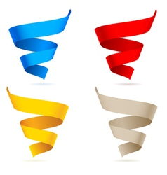 colored ribbons on white background for design vector image vector image