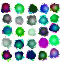 splatter speech bubbles vector image vector image