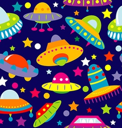 UFO cartoon seamless vector image vector image