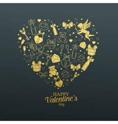 Valentines day gift card vector image vector image