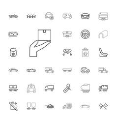 33 car icons vector