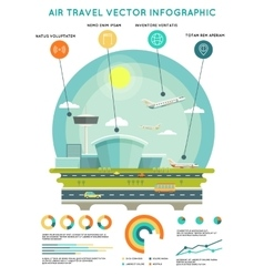 Air travel infographic template vector