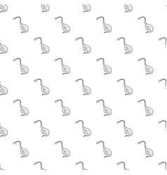 aquatic dinosaur pattern seamless vector image