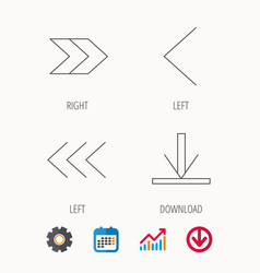 Arrows icons download left and right signs vector