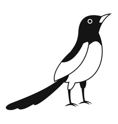Asian magpie icon simple style vector