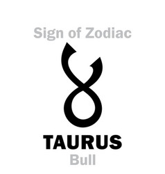 astrology sign of zodiac taurus the bull vector image