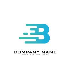 B speed letter logo icon design vector