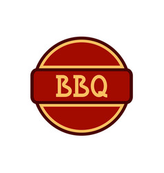 Bbq badge circle vector