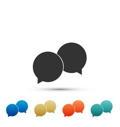 blank speech bubbles icon isolated vector image