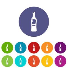 Bourbon icons set color vector