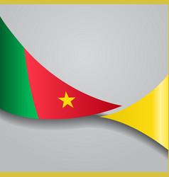 Cameroon wavy flag vector